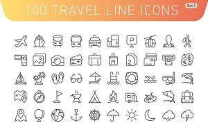 Travel Line Icons. Set 1