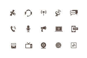 15 Communication and Audio Icons