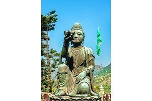 Buddhist statues at Ngong Ping, on the way to Tian Tan Buddha. Hong Kong