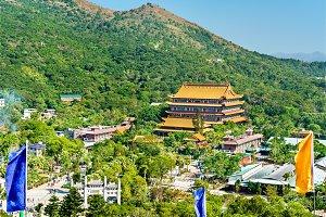 Po Lin Monastery located on Ngong Ping Plateau, on Lantau Island, Hong Kong
