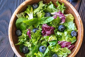 Bowl of salad mix