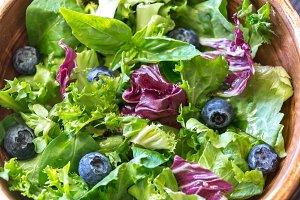 Bowl of salad mix