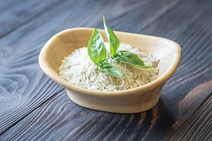 Uncooked basmati rice