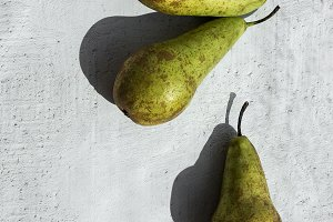 Pears.Flat lay