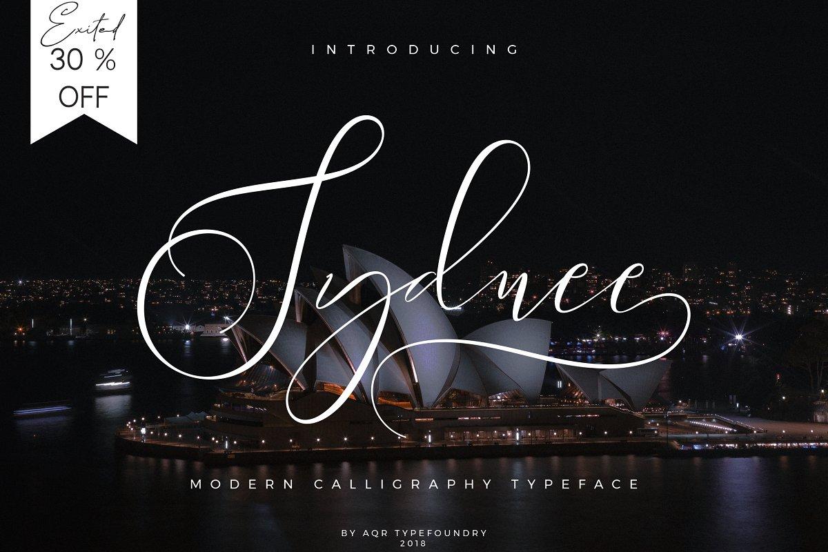 Sydnee Modern Calligraphy Font ~ Script Fonts ~ Creative Market