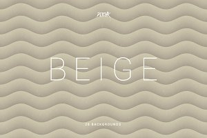 Beige | Soft Abstract Wavy Bgs
