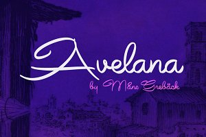 Avelana - Nine Fonts!