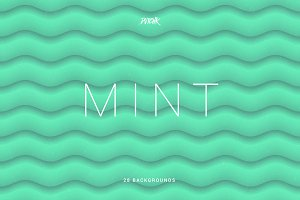 Mint | Soft Abstract Wavy Bgs