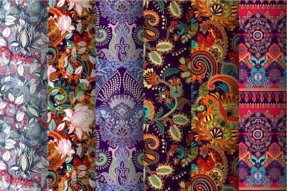 SET Of Floral Patterns