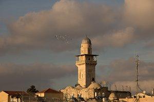 Omer mosque minaret, Jerusalem