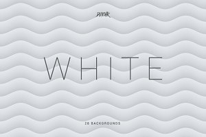 White | Soft Abstract Wavy Bgs