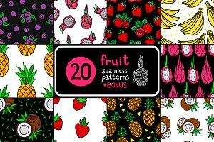 20 Fruit Seamless Pattern