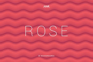 Rose | Soft Abstract Wavy Bgs