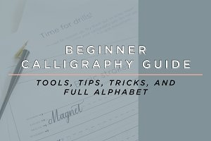 Calligraphy Guide and Alphabet