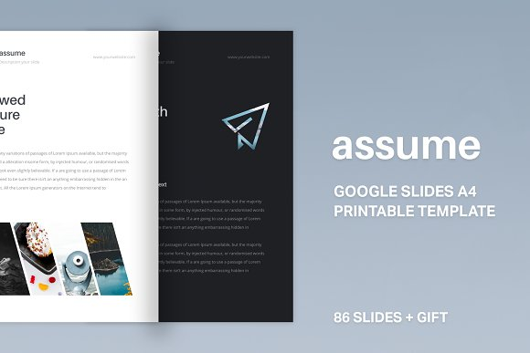 A4 Assume Google Slides Template