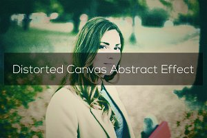 Distorted Canvas Abstract Effect