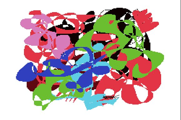 Colorful Abstraction Pixels Artwork