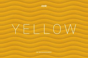 Yellow | Soft Abstract Wavy Bgs