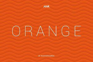 Orange | Soft Abstract Wavy Bgs