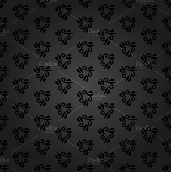 Damask Seamless Pattern Orient Background