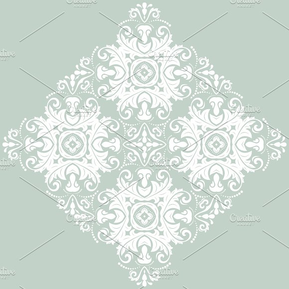 Orient Seamless Pattern Abstract Background