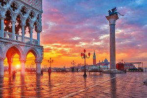 Sunrise at San Marco in Venice
