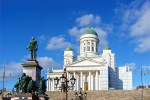 Cathedral in Helsinki, Finland