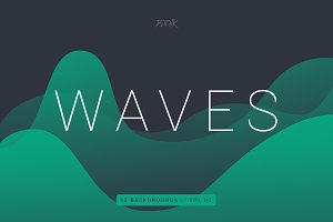 Waves | Smooth Colorful Bgs | V2