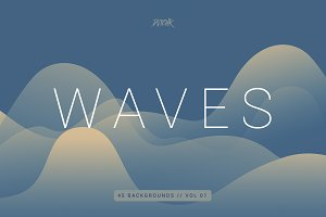 Waves | Smooth Colorful Bgs | V1