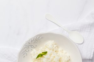 Rice milk porridge with butter