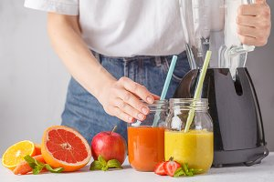 fruit juices or smoothies