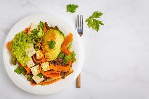 Lentil tofu salad