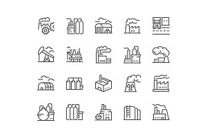 Line Factories Icons