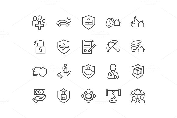 Line Insurance Icons