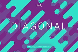 Diagonal | Rounded Lines Bgs | V02