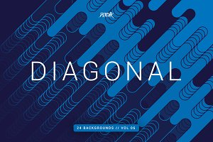 Diagonal | Rounded Lines Bgs | V06