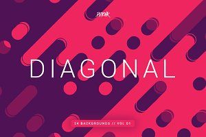 Diagonal | Rounded Lines Bgs | V01