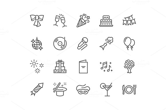 Line Party Icons