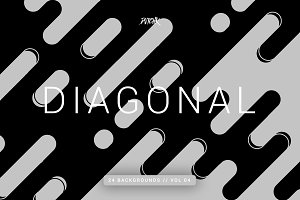 Diagonal | Rounded Lines Bgs | V04