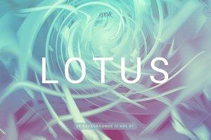 Lotus | Colorful Spiral Bgs | V1