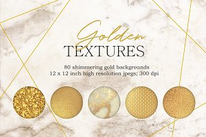 Gold textures bundle