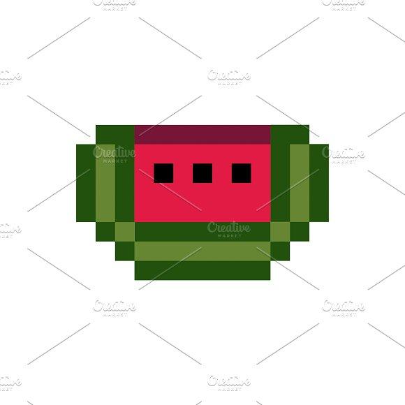 Fresh Watermelon Pixelated Fruit