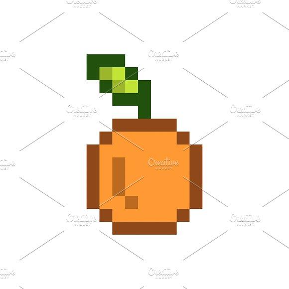 Orange Pixelated Fruit