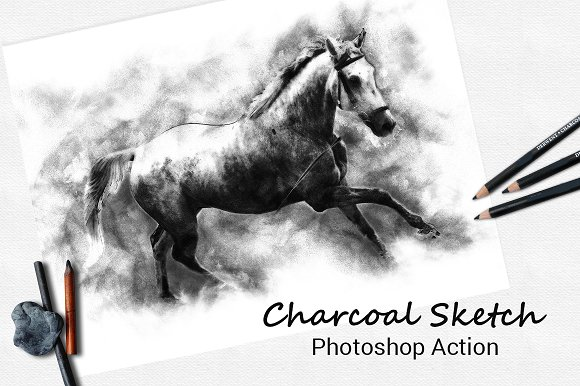 Charcoal Sketch Photoshop Action