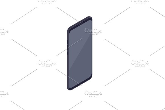 Isometric Smartphone Isolated On White Background
