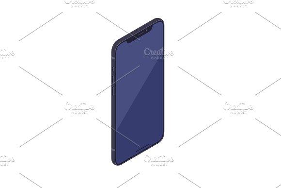 Isometric Smartphone Isolated On White Background