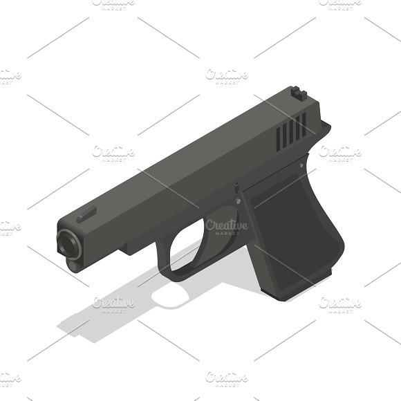 Vector Icon Of Gun