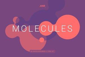 Molecules | Flat Backgrounds | V01