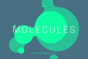Molecules | Flat Backgrounds | V02