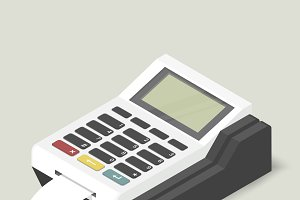 Vector image of calculator icon